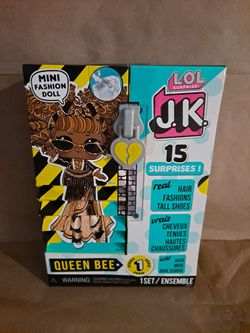 LOL Surprise JK QUEEN BEE Mini Fashion Doll 15 Surprises Series 1 Real Hair New for Sale in Cranston,  RI