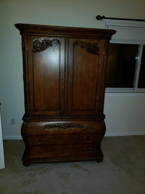 Wardrobe/Entertainment Cabinet with drawers for Sale in Ashland, MA