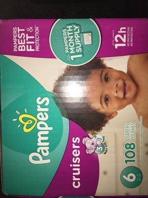 Pampers cruisers size 6 diapers for Sale in Downey, CA
