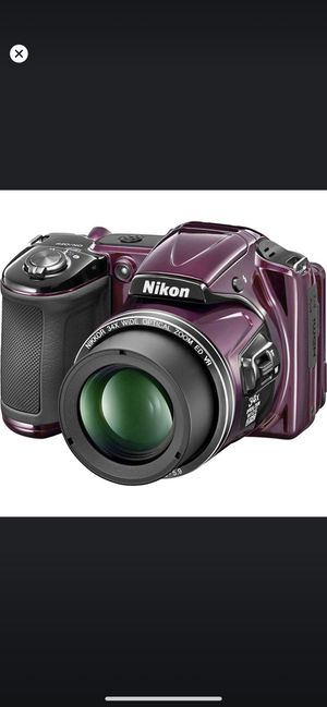 Nikon COOLPIX L830 16 MP Digital Camera with 34x Zoom NIKKOR Lens and Full 1080p HD Video (Plum) for Sale in Coral Gables, FL