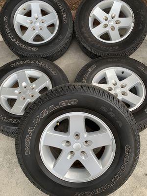Jeep wrangler wheels for Sale in Colton, CA