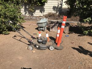 Lawn mower and orange cones for Sale in San Diego, CA