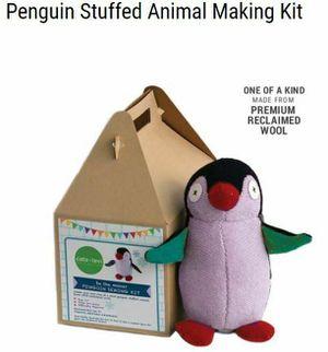 Cate and Levi 14″ Handmade Penguin Plush Stuffed Animal Making Kit (Premium Reclaimed Wool), Colors Will Vary for Sale in Virginia Beach, VA
