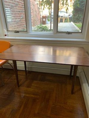 Mid Century Modern Kitchen Table Natural Wood and Foldable for Sale in Brooklyn, NY