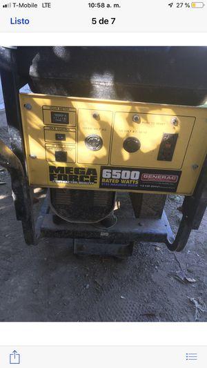 Generador mega force 6509 rated watts buenísimo for Sale in Elk Grove, CA