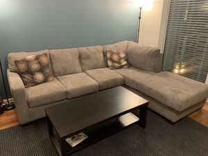 2 Piece Zella Sectional Couch in great condition! for Sale in San Francisco, CA