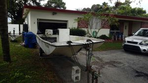 Black Friday Sale 14 foot skiff with 28hp and trailer for Sale in Miramar, FL