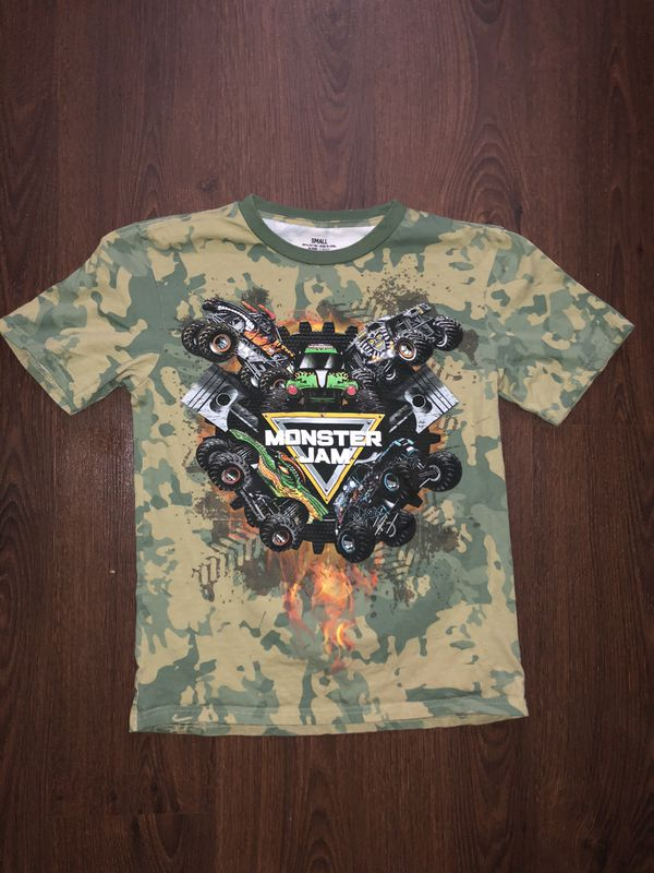 Monster Jam Camouflage T Shirt Size Small