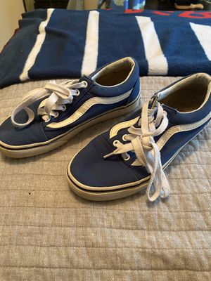 Blue vans with original laces for Sale in Germantown, MD