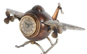 Retro Helicopter Decorative Quartz Antique Table Clock for Sale in Chicago, IL