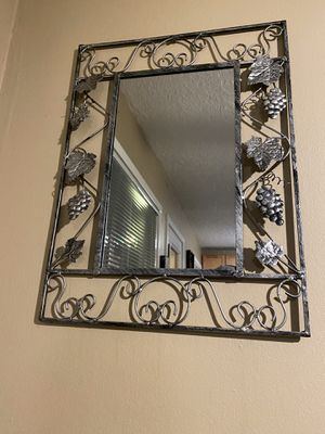 "Wine Grape Iron Framed Wall Mirror 18"" x 24"" for Sale in Portland, OR"