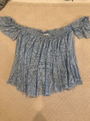 Baby blue lace shirt for Sale in Escondido, CA