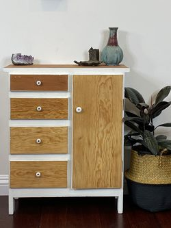 Petite Refinished Cabinet Side Table Nightstand for Sale in Sylmar,  CA