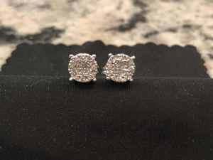 Genuine Diamond Earrings Set in White Gold 1/3 CTW for Sale in Snow Camp, NC