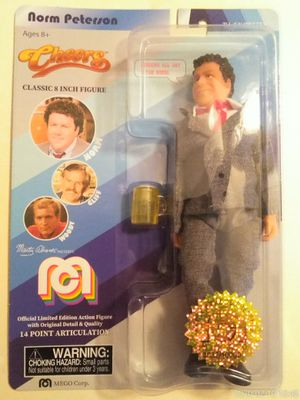 "COLLECTIBLE 2018 LIMITED EDITION MEGO TV FAVORITES CHEERS NORM PETERSON 8"" ACTION FIGURE . for Sale in El Mirage, AZ"