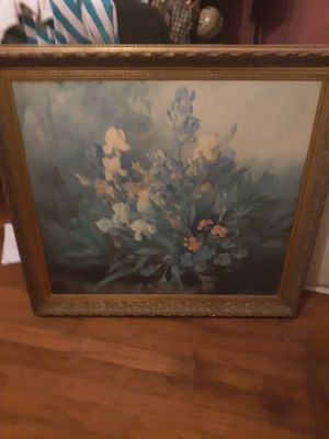 Large antique floral painting for Sale in Alexandria, LA