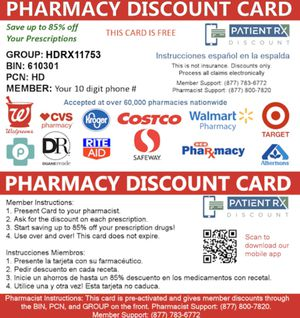FREE Pharmacy discount card for Sale in Los Angeles, CA