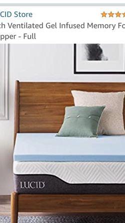 Full Size Memory foam Mattress Topper Brand New for Sale in Los Angeles,  CA