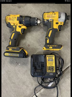 Dewalt 20v max Xr brushless impact driver and drill combo with 20v lithium ion battery and charger for Sale in Phoenix, AZ