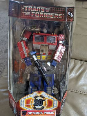 RARE Optimus prime vintage New in box transformers ANNIVERSARY figure toy collectable for Sale in Las Vegas, NV