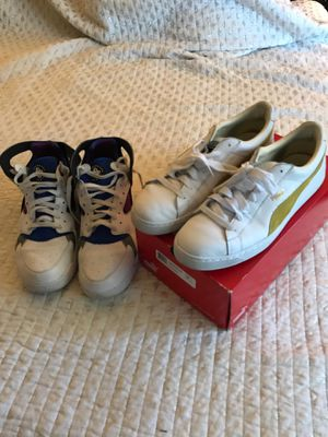 Nike Huarache and Puma Gold Leather Suede SZ 13 for Sale in Bonsall, CA