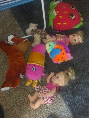toy bundle lippie stick lights up Shopkins pillows for Sale in Anaheim, CA