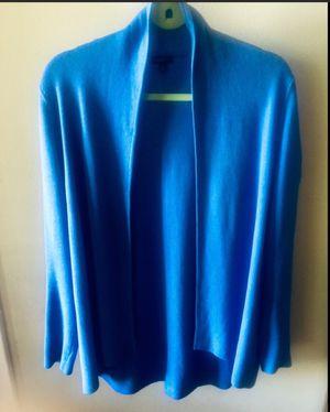 Luscious blue open front Talbots cardigan medium for Sale in Salt Lake City, UT