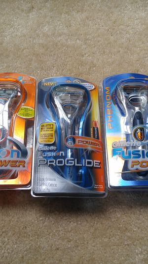3 New open box Gillette power razors - open box since batteries are taken out for Sale in Rockville, MD