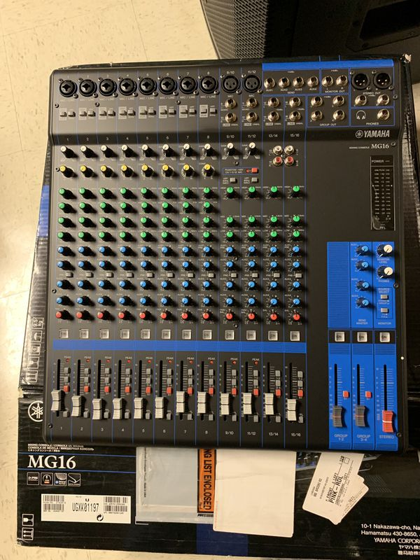 Yamaha MG16 is very good. open the box. sell for $ 290. Its price is 439 $