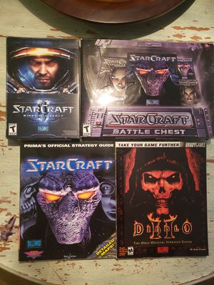 8 Computer PC Video Games Starcraft 1 and 2 for Sale in Tulsa, OK
