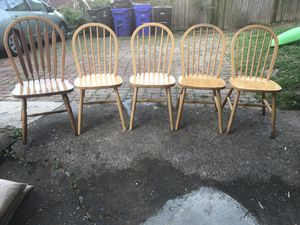 Set of 5 dining room chairs for Sale in Arlington, VA