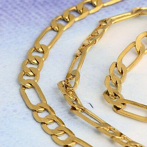 """24"""" Gold Plated Figaro Curb Chain for Sale in Lancaster, PA"""