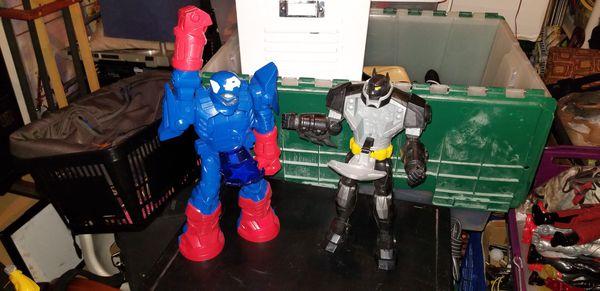 "Lot of (10) 12"" Action Figures Iron Man Capt America Spiderman etc..."
