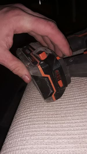Ridgid sawzall with battery charged NO CHARGER for Sale in MARTINS ADD, MD