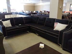 Black Fabric Sectional Sofa for Sale in Phoenix, AZ