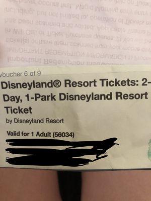 Disneyland ticket for Sale in Las Vegas, NV