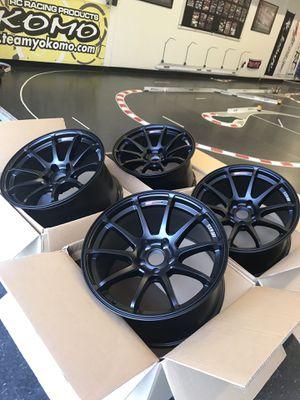 SSR GTV02 18x10.5 +25 5x114.4 Flat Black for Sale in San Diego, CA