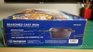 Seasoned cast iron dutch oven and skillet - NEVER OPENED - Westinghouse for Sale in Oswego, IL