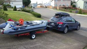 *** PRICE DROPPED*** Zodiac style boat setup for Sale in Portland, OR