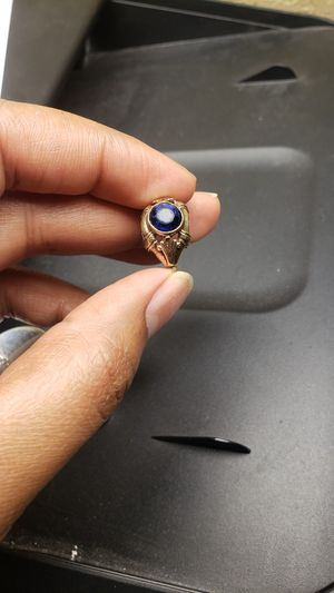 10k gold ring with sapphire for Sale in Oliver, WI