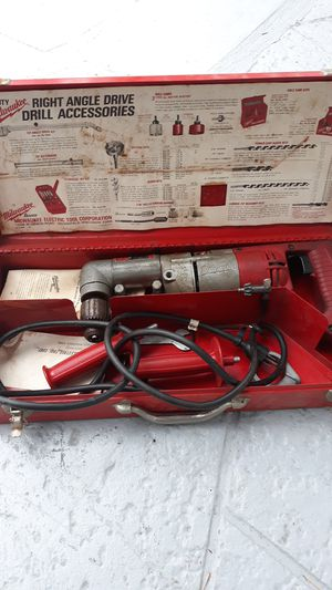 Heavy duty right angle drill Milwaukee half inch works perfect for Sale in Pompano Beach, FL