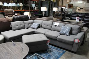 Sectional Sofa (Ottoman Included), Grey for Sale in Downey, CA