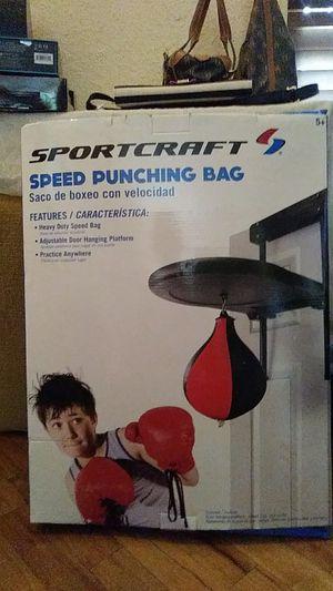 Sportcraft speed punching bag for Sale in Phoenix, AZ