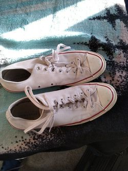 size 12 mens white vintage converse for Sale in North Las Vegas,  NV