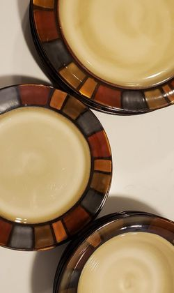 Pier1 Mosaic Hand Painted Stoneware Dinner Set for Sale in Lexington,  KY