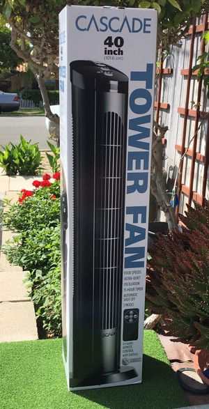 "CASCADE / 40"" OSCILLATING TOWER FAN for Sale in Dana Point, CA"