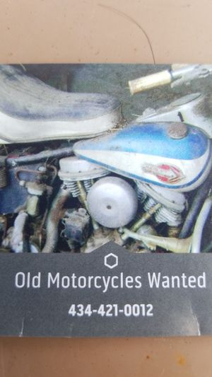 Looking to buy old motorcycle or motorcycle parts. Anything 1980 or older, maybe some newer stuff? for Sale in Callands, VA
