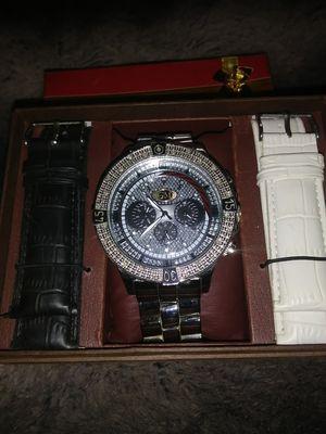 Grand Master Diamond stainless steel watch for Sale in Hyattsville, MD