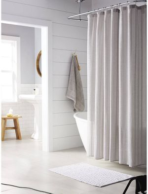 Tonal Stripe Shower Curtain Gray for Sale in Victorville, CA