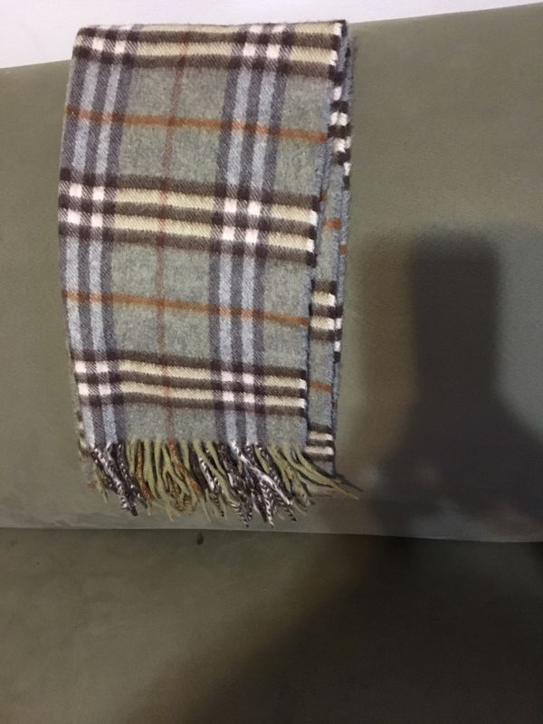 Gently used Burberry men's scarf